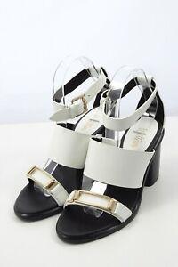 """Wittner Black And White """"Flo"""" Sandal 37 by Reluv Clothing"""