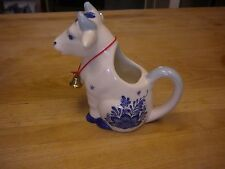 Delft Blue/White Sitting Cow Creamer w/Bell Holland