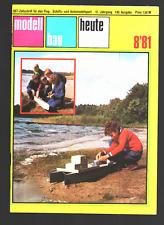 modellbau heute 8/81 8/1981 + Faltplan Motorjacht Berlin fest im Heft
