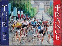TOUR DE FRANCE - BICYCLE CYCLE RACE CYCLIST METAL SIGN TIN PLAQUE WALL ART 479