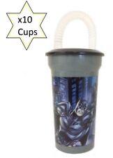 X 10 BATMAN KIDS PLASTIC WATER DRINK BOTTLE -SCHOOL LUNCHBOX - PARTY BAG FILLER