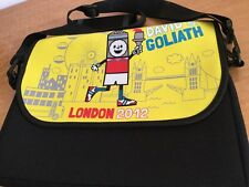 David And Goliath Messenger Computer Bag London 2012 Olympics Full Zip RARE!