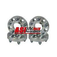 4PCS Wheel Spacers For Jeep 25mm 5Lugs 5x114.3 12x1.5 CB=67.1mm Aluminum