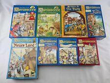 Carcassonne Spiele Sammlung mit 4 Erweiterungen alte Version in Holz