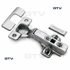 40x GTV SOFT CLOSE KITCHEN CABINET CUPBOARD DOOR HINGE HINGES EURO PLATE