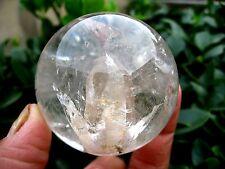 "265g RARE NATURAL ""stone inside Stone"" quartz crystal sphere ball healing"