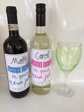 Personalised Wine Bottle Sticker/label For Leaving Colleague/good Luck New Job
