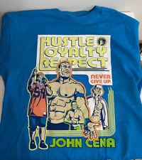 John Cena WWE AUTHENTIC Throwback Blue T-shirt Medium