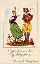 CARTE CHROMO PUB /JEAN DROIT / LES VIEILLES PROVINCES DE FRANCE / LA BRETAGNE
