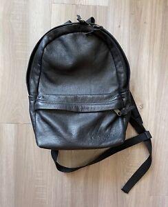 Eastpak Leather Backpack Black