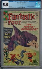CGC 5.5 FANTASTIC FOUR #21 1ST APPEARANCE OF THE HATE-MONGER OW/WHITE PAGES