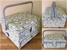 More details for fabulous sewing boxes baskets 3 styles available 'sheep' design super quality