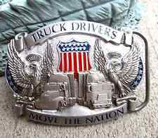 Pure Pewter Truck Drivers Move The Nation Mens Belt Buckle 1987