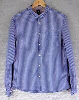 White Stuff Men's Blue Shirt Slim Fit Size M Medium 100% Cotton