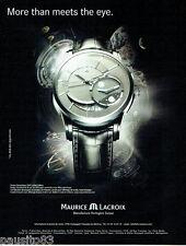 PUBLICITE ADVERTISING 046  2008  Maurice Lacroix  montre Pontos Décentrique