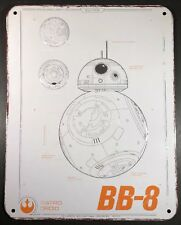 "Star Wars BB-8  14 X 11"" Tin Embossed Sign 4 holes for hanging"