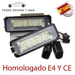 PLAFON LED MATRICULA GOLF POLO SCIROCCO BEETLE HOMOLOGADO E4 LUCES LED SEAT LEON