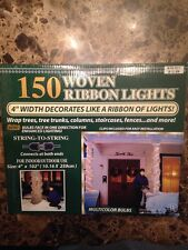 """150 WOVEN RIBBON LIGHTS 4"""" WIDTH DECORATED LIKE A RIBBON OF LIGHTS"""