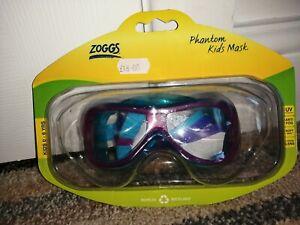Zoggs Phantom Kids Swimming Mask Age 6 Plus Used Twice RRP £18