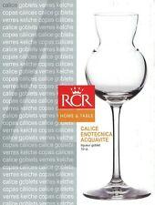 RCR CALICE enotecnia acquavite Set di 4 Crystal liquorosi BICCHIERI DEGUSTAZIONE VETRO
