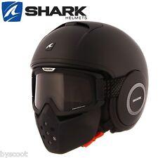 Casco moto Shark Raw Blank Matt negro mate m He3012ekmam