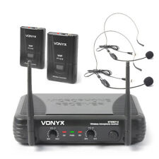 Vonyx 179.178 VHF Wireless Microphone System with Headsets