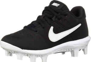Nike Alpha Huarache Varsity Black Baseball Cleats Boys (Size Varies) AO7583-001