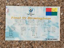 1999 - CUP WINNERS CUP FINAL TICKET - MALLORCA v LAZIO