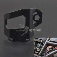 Black Rear Brake Fluid Reservoir Protector Guard Cover For BMW F800GS Adv F700GS