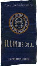 Vintage 1910s ILLINOIS COLLEGE Egyptienne Luxury TOBACCO SILK college cigarette