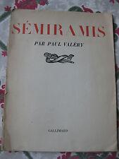 1934 Séminaris Paul  Valéry EO Papier Alfa mélodrame Honegger Mythologie grecque