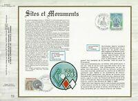 FEUILLET CEF 1er JOUR MONACO SITES ET MONUMENTS 1983