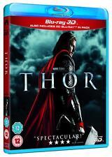 Thor [Blu-ray 3D + 2D Region Free Marvel Cinematic Universe 2011, Hemsworth] NEW