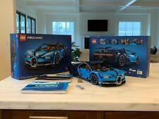 Assembled LEGO Bugatti Chiron Technic w/ Box Accessories and Books (42083)