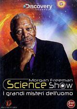 MORGAN FREEMAN SCIENCE SHOW I Grandi Misteri dell'Uomo BOX 3 DVD NEW Sigillato