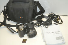Nikon COOLPIX L100 10.0MP Black Digital Camera w/ 4gb SD Card,Case,Manual,Cables