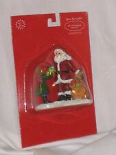 "NEW St. Nicholas Square ""Santa Giving Gifts"" Christmas Village Collection Figure"