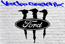 FORD MONSTER RACING STICKER Funny Car Window Ford Sponsor Decals Bumper