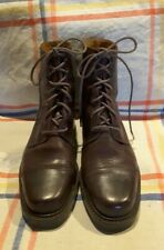 COLE HAAN Lace Up Vintage Brown Leather ANKLE BOOTS Women 6 M F4453 Brazil Nice!