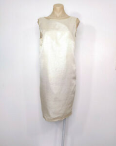 PERRI CUTTEN Vintage Size 10 (or 12) Shift Dress Gold Party Cocktail Event EUC