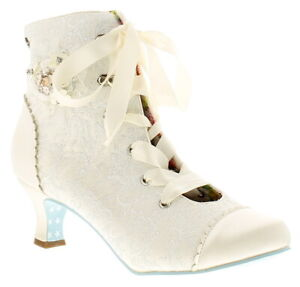 Joe Browns Couture hitched boot couture womens ladies ankle boots ivory/silver U