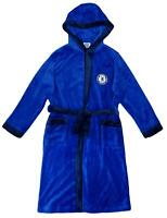Boys Dressing Gown CHELSEA CFC Bath Robe Football Fleece Hooded 3 to 4 Years