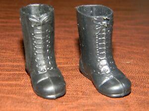 Vintage Mego Original POTA Planet of the Apes Soldier Ape Black Boots EXCELLENT+