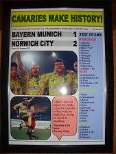 Bayern Munich 1 Norwich City 2 - 1993 UEFA Cup - framed print