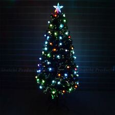 6ft Christmas tree Fiber Optic Pre-Lit xmas tree with Berry LED Lights Christmas