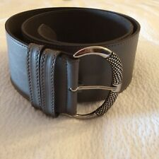 COCCINELLE GREY WIDE LEATHER BELT. NEW WITHOUT TAGS