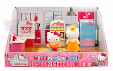 Hello Kitty & Mom Mini Furniture Set Play House Mini Toy Set Girl Gift-Kitchen