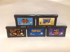 Gameboy Advance GBA - Mario Kart, Mario Pinball, Mario 3, DKC & Mario Vs. DK Lot
