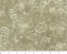 108 INCH FLOWERS AND PAISLEY - CAMEL - 3 YARD CUT - Q822
