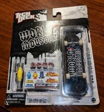 World Industries Tech deck Fingerboard BRAND NEW SET NIP RARE SKATEBOARD BLACK
